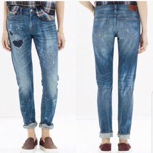 Madewell The Slim Boy Jean: Rip and Repair